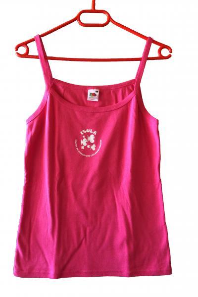 T-Shirt rose à bretelle